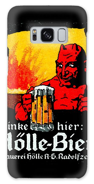 1905 German Beer Poster Galaxy Case