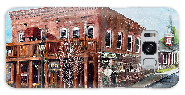 Galaxy Case featuring the painting 1907 Restaurant And Bar - Ellijay, Ga - Historical Building by Jan Dappen