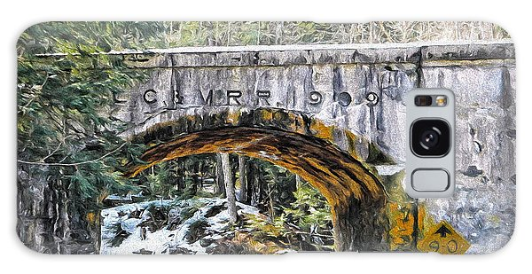 1909 Country Backroad Train Overpass Galaxy Case by Rena Trepanier