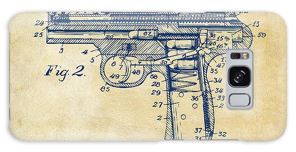 Weapons Galaxy Case - 1911 Automatic Firearm Patent Minimal - Vintage by Nikki Marie Smith