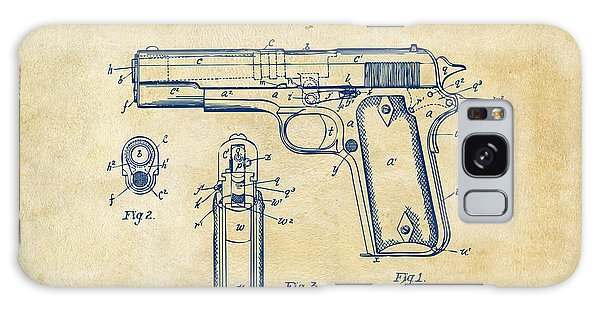 1911 Colt 45 Browning Firearm Patent Artwork Vintage Galaxy Case by Nikki Marie Smith
