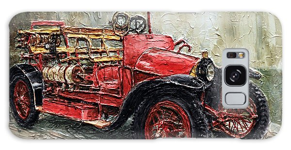 1912 Porsche Fire Truck Galaxy Case by Joey Agbayani