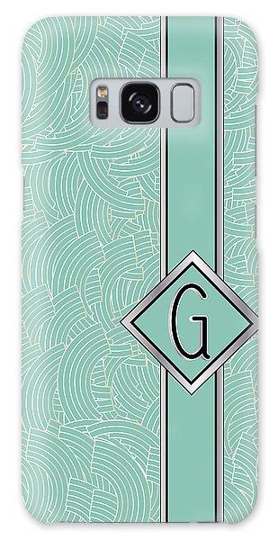 1920s Blue Deco Jazz Swing Monogram ...letter G Galaxy Case
