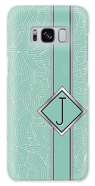 1920s Blue Deco Jazz Swing Monogram ...letter J Galaxy Case