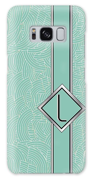 1920s Blue Deco Jazz Swing Monogram ...letter L Galaxy Case