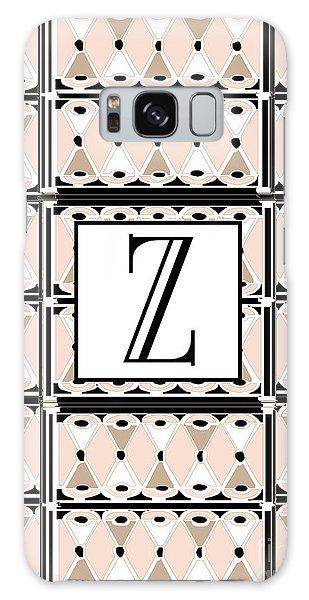 1920s Pink Champagne Deco Monogram  Z Galaxy Case