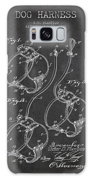 Leash Galaxy Case - 1927 Dog Harness Patent - Charcoal by Aged Pixel
