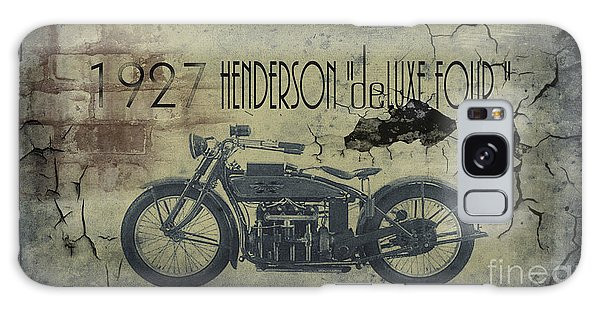 Motorcycle Galaxy S8 Case - 1927 Henderson Vintage Motorcycle by Cinema Photography