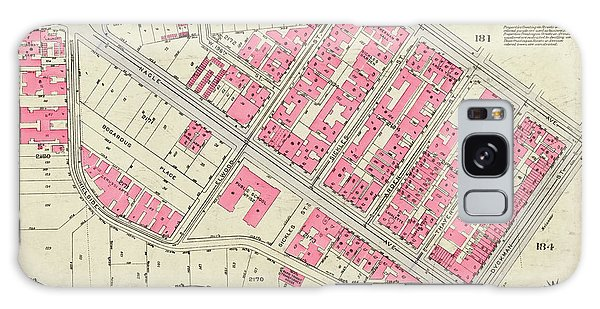 1930 Inwood Map  Galaxy Case