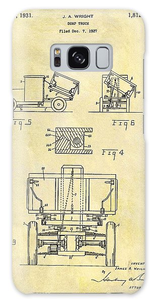 Old Truck Galaxy Case - 1931 Dump Truck Patent by Dan Sproul
