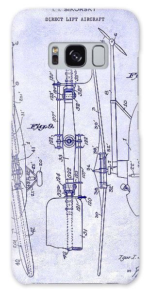1935 Helicopter Patent Blueprint Galaxy Case by Jon Neidert