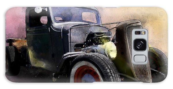 1936 Chevy Rat Rod Pickup Watercolour Galaxy Case