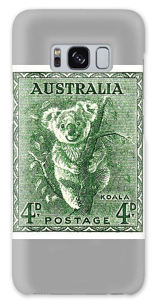 Koala Galaxy Case -  1940 Australia Koala Postage Stamp by Retro Graphics