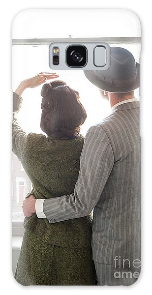 1940s Couple At The Window Galaxy Case