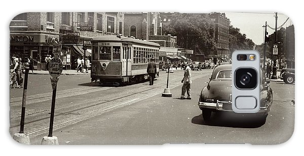 Galaxy Case featuring the photograph 1940's Inwood Trolley by Cole Thompson