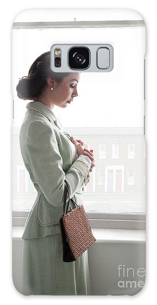 1940s Woman At The Window Galaxy Case