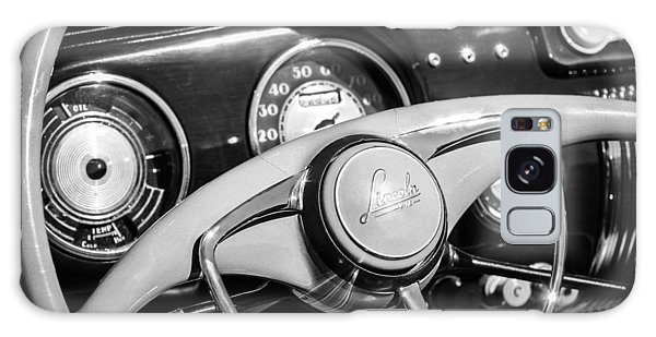 Galaxy Case featuring the photograph 1941 Lincoln Continental Cabriolet V12 Steering Wheel -226bw by Jill Reger