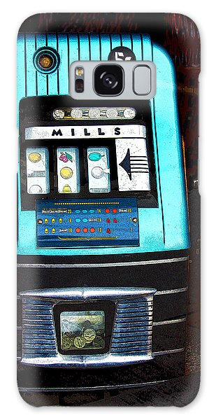1945 Mills High Top 5 Cent Nickel Slot Machine Galaxy Case by Karon Melillo DeVega