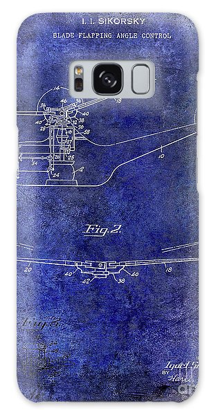 1947 Helicopter Patent Blue Galaxy Case by Jon Neidert