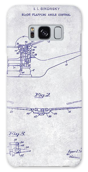 1947 Helicopter Patent Blueprint Galaxy Case
