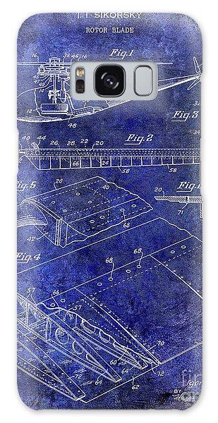1949 Helicopter Patent Blue Galaxy Case by Jon Neidert