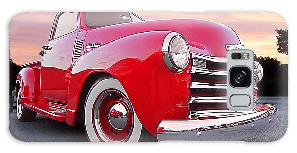 1950 Chevy Pick Up At Sunset Galaxy Case