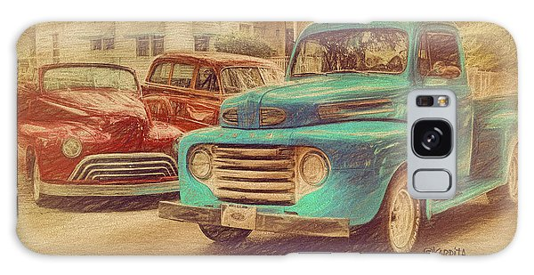 1950 Ford Truck Classic Cars - Homecoming Galaxy Case by Rebecca Korpita