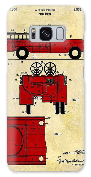Old Truck Galaxy Case - 1950 Red Firetruck Patent by Dan Sproul