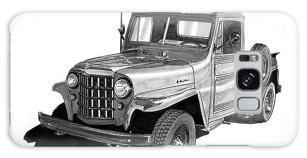 Old Truck Galaxy Case - 1950 Willys Pick Up Truck by Jack Pumphrey