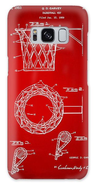 1951 Basketball Net Patent Artwork - Red Galaxy Case