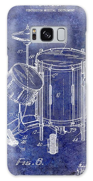 Drum Galaxy S8 Case - 1951 Drum Kit Patent Blue by Jon Neidert