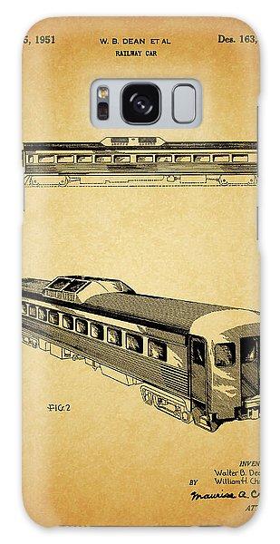 1951 Railway Car Patent Galaxy Case by Dan Sproul