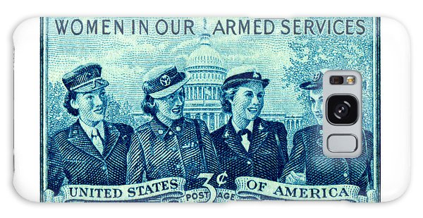 1952 Women In Military Service Stamp Galaxy Case