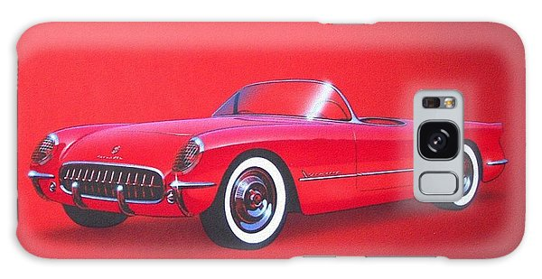 1953 Corvette Classic Vintage Sports Car Automotive Art Galaxy Case