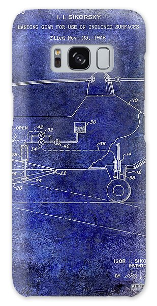 1953 Helicopter Patent Blue Galaxy Case