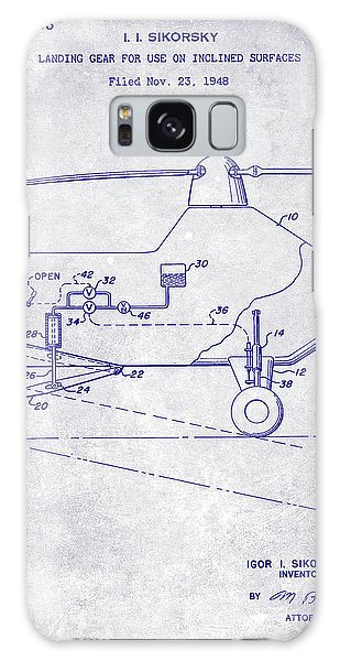 1953 Helicopter Patent Blueprint Galaxy Case