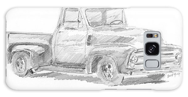 1955 Ford Pickup Sketch Galaxy Case