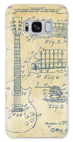 Den Galaxy Case - 1955 Mccarty Gibson Les Paul Guitar Patent Artwork Vintage by Nikki Marie Smith