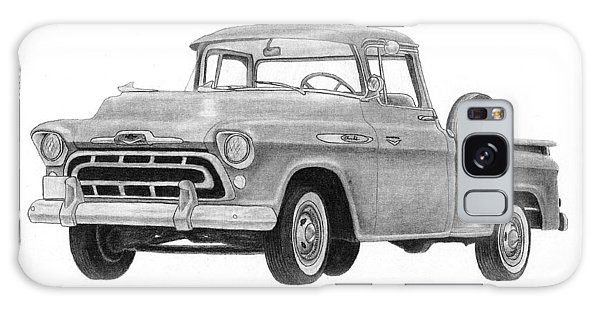 Old Truck Galaxy Case - 1957 Chevrolet Pick Up  by Claude Prud' homme