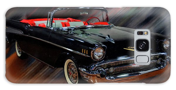 1957 Chevy Bel Air Convertible Digital Oil Galaxy Case