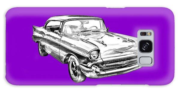 1957 Chevy Bel Air Illustration Galaxy Case