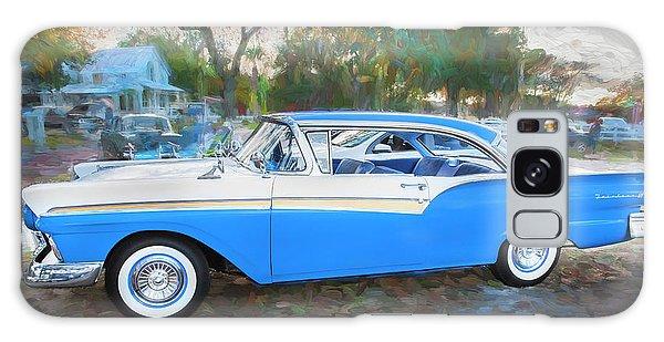 Dual Exhaust Galaxy Case - 1957 Ford 2 Door Fairlane C130 by Rich Franco