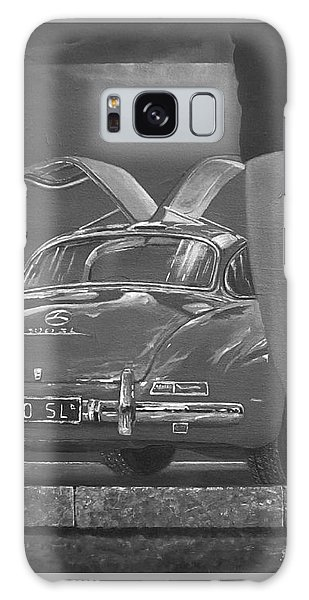 1957 Mercedes Benz 300 Sl Gullwing Coupe In Black And White Galaxy Case