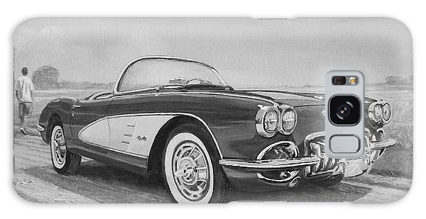 1959 Chevrolet Corvette Cabriolet In Black And White Galaxy Case