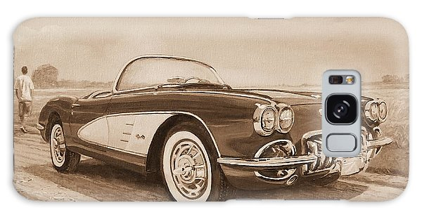 1959 Chevrolet Corvette Cabriollet In Sepia Galaxy Case