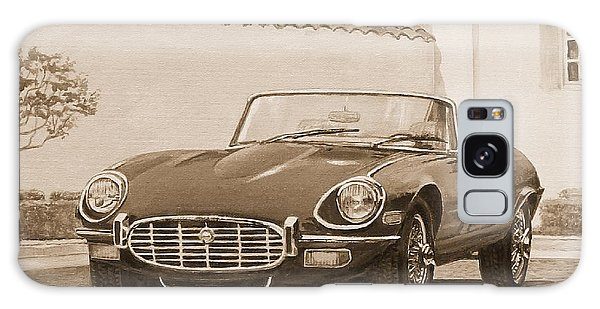 1961 Jaguar Xke Cabriolet In Sepia Galaxy Case