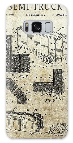 Old Truck Galaxy Case - 1961 Semi Truck Patent by Dan Sproul