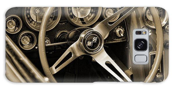 1963 Chevrolet Corvette Steering Wheel - Sepia Galaxy Case