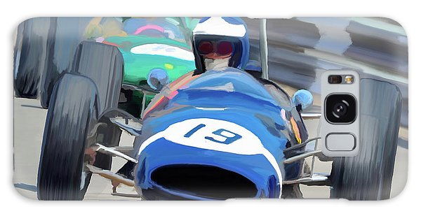 1963 Cooper T66 Coming Out Of Monaco's Mirabeau Galaxy Case by Wally Hampton