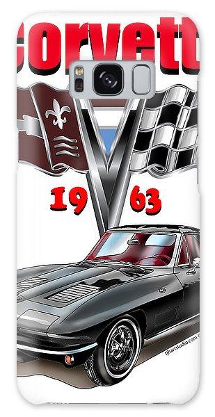 1963 Corvette With Split Rear Window Galaxy Case